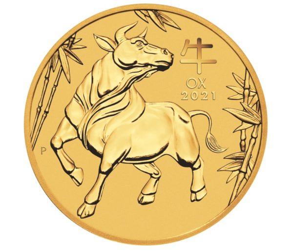 Lunar III Złota Moneta Bawół 2021