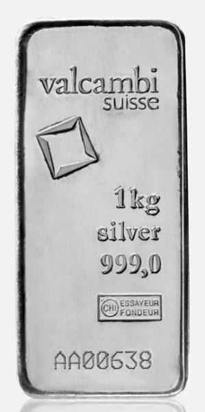 Valcambi 1000g srebro 2