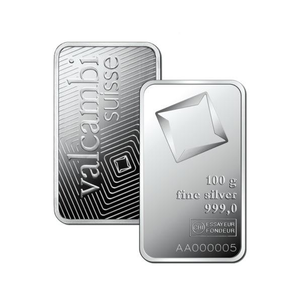 Valcambi 100g srebro