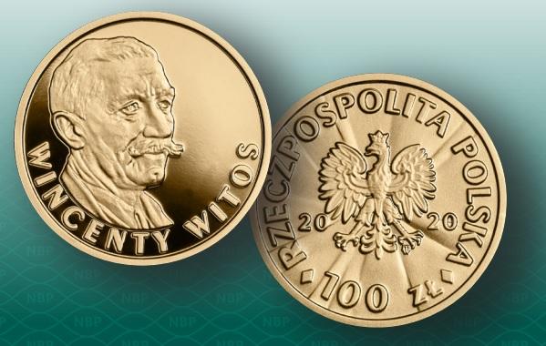 100 zł złota moneta Wincenty Witos