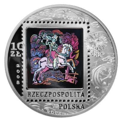 2008_450_lat_poczty_polskiej_srebrna_moneta_10zl_awers