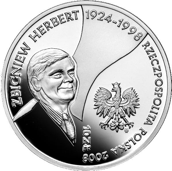 2008_zbigniew_herbert_srebrna_moneta_10zl_awers