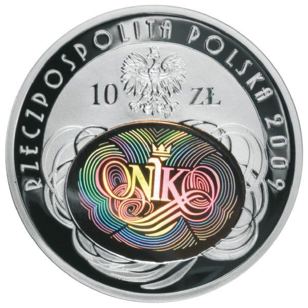 2009_90_rocznica_nik_srebrna_moneta_10zl_awers