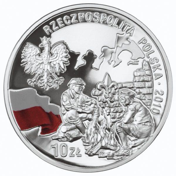 2010_100_rocznica_harcerstwa_polskiego_srebrna_moneta_10zl_awers
