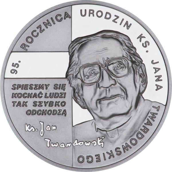 2010_95_rocznica_urodzin_ks_Jana_Twardowskiego_srebrna_moneta_10zl_rewers