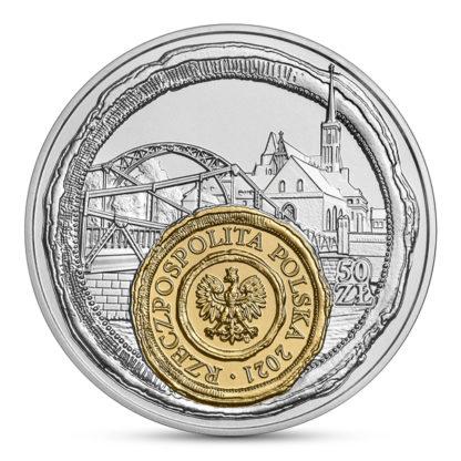 50 zł Wrocław - mała ojczyzna srebrna moneta 2021 awers - GoldBroker.pl