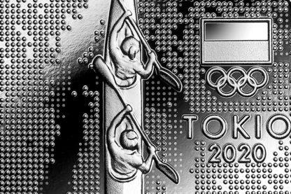 10 zł srebrna moneta reprezentacja olimpijska Tokio 2021 rewers detal = GoldBroker.pl