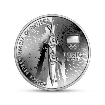10 zł srebrna moneta reprezentacja olimpijska Tokio 2021 rewers - GoldBroker.pl