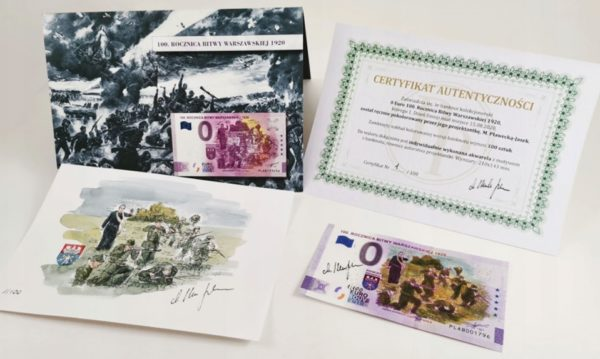 0 Euro Bitwa Warszawska banknot kolor zestaw - GoldBroker.pl