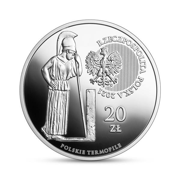Srebrna moneta Polskie Termopile – Dytiatyn awers