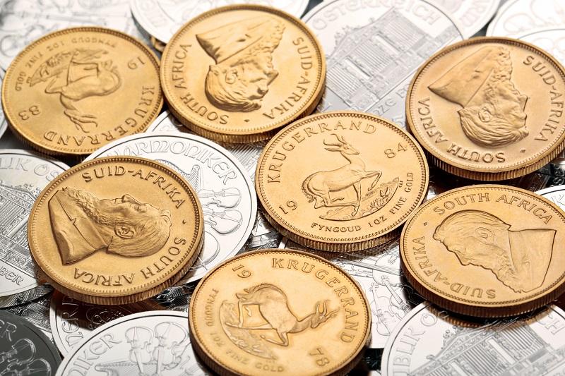 Złoto i srebro inwestycyjne - złote monety bulionowe Krugerrand i srebrne monety Filharmonicy Wiedeńscy - GoldBroker.pl