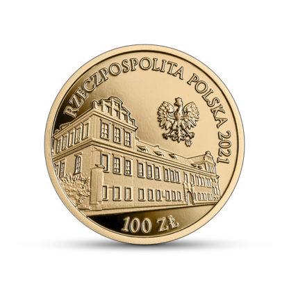 100 zł Pałac Biskupi w Krakowie złota moneta awers - GoldBroker.pl