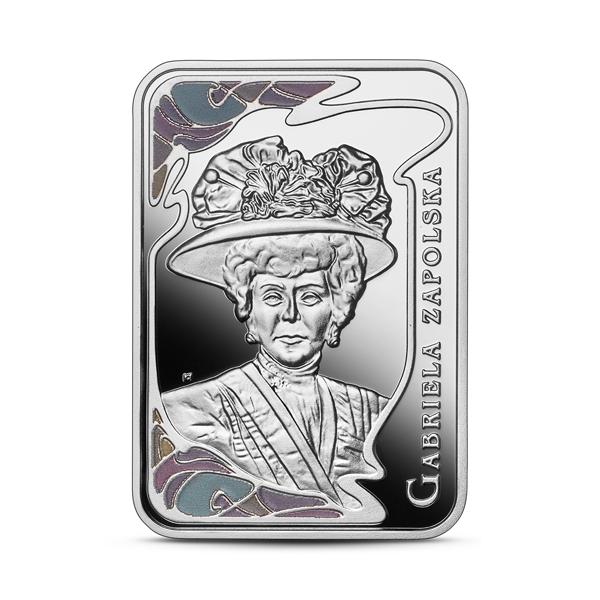 Moneta kolekcjonerska 20 zł Wielkie aktorki Gabriela Zapolska 2021 rewers