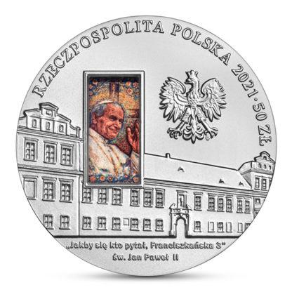 50 zł Pałac Biskupi w Krakowie srebrna moneta awers - GoldBroker.pl