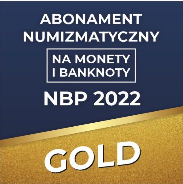 Abonament numizmatyczny na monety i banknoty NBP 2022 GOLD - GoldBroker.pl
