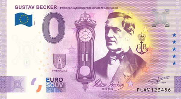 Banknot pamiątkowy 0 euro Gustav Becker - GoldBroker.pl