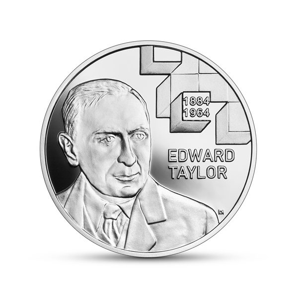 Srebrna moneta Wielcy polscy ekonomiści Edward Taylor awers - GoldBroker.pl