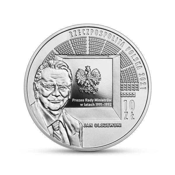 Srebrna moneta 30-lecie pierwszych wolnych wyborów parlamentarnych 2021 awers