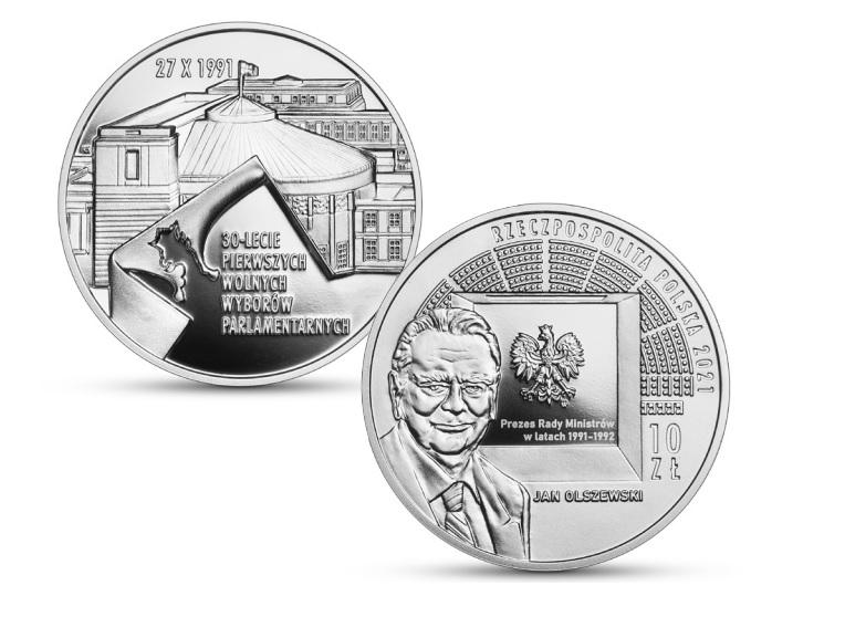 Rocznica  wolnych wyborów parlamentarnych – srebrna moneta NBP
