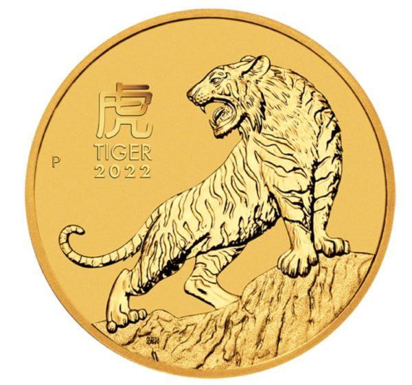 Złota moneta bulionowa 1/2 uncji Lunar III Rok Tygrysa rewers - GoldBroker.pl
