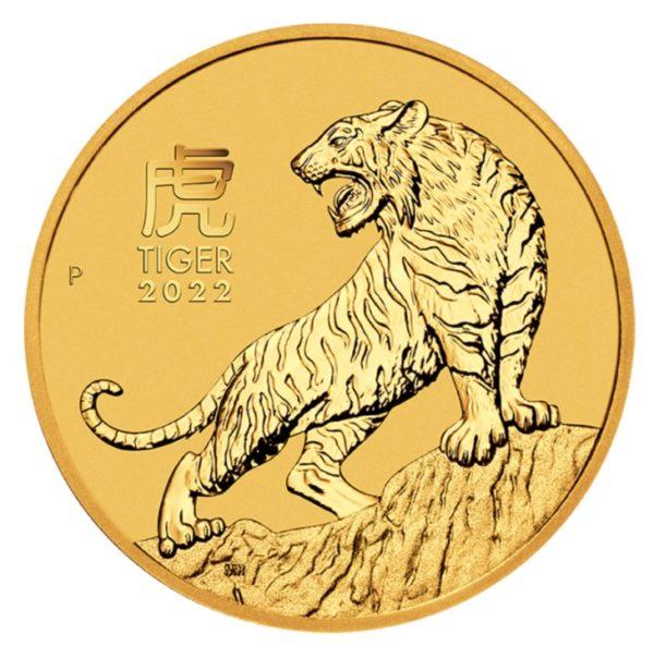 Złota moneta bulionowa 1/4 uncji Lunar III Rok Tygrysa rewers - GoldBroker.pl
